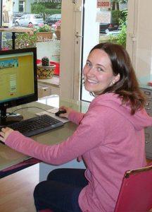 Jana Mock bei der Sprachschule Centro in Frankfurt