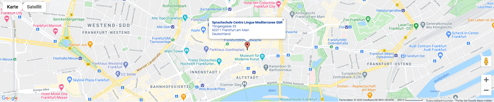 Sprachschule Centro Frankfurt Map